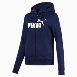 Essentials Fleece Hooded Full Zip Women's Sweat Jacket, Peacoat, small