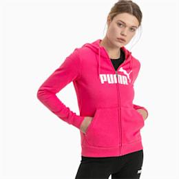 Essentials Fleece Hooded Full Zip Women's Sweat Jacket, Beetroot Purple, small