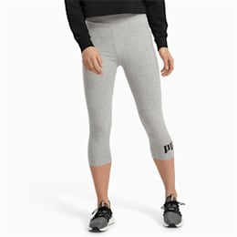 Essentials 3/4 lange leggings til kvinder, Light Gray Heather, small
