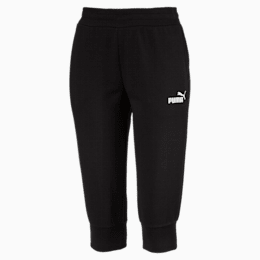 Essentials Women's Capri Sweatpants, Cotton Black, small