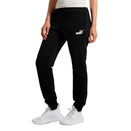 Pantalones de polar Essentials para mujer, Cotton Black, pequeños