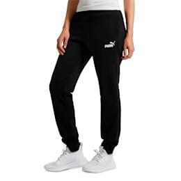 Essentials Fleece Women's Pants, Cotton Black, small