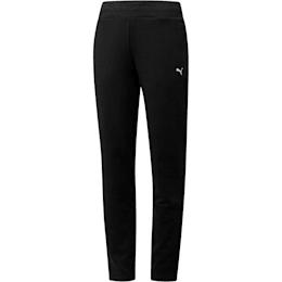 Essentials Fleece Women's Knitted Pants, Cotton Black-Cat, small