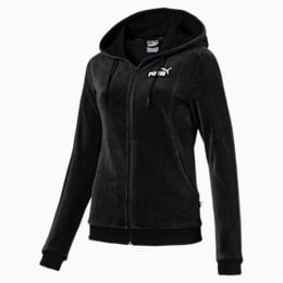 Essentials Velour Hooded Women's Jacket