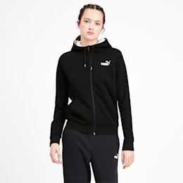 Essentials Sherpa Hooded Women's Jacket, Cotton Black, small