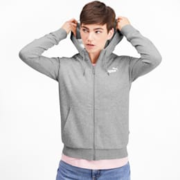 Essentials + Sherpa Women's Hooded Jacket, Light Gray Heather, small