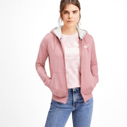 Essentials Sherpa Hooded Women's Jacket, Bridal Rose, small-IND