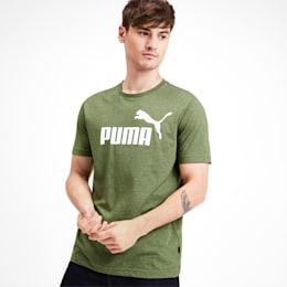 Meska koszulka Essentials+ Heathered, Garden Green Heather, small