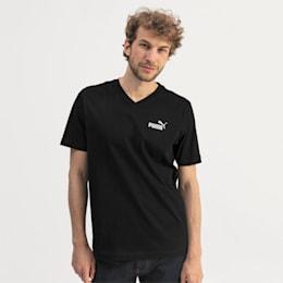 Essentials Herren V-Neck T-Shirt, Cotton Black, small