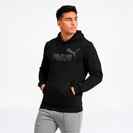 Essentials+ Men's Fleece Hoodie, Cotton Black, small