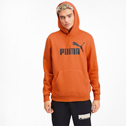 Essentials+ Men's Fleece Hoodie, Jaffa Orange Heather, small