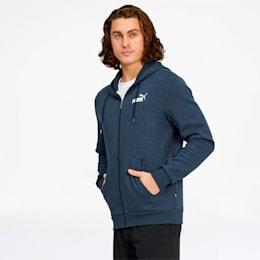 Essentials+ Men's Fleece Hooded Jacket, Peacoat Heather, small