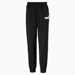 Essentials Woven Boys' Sweatpants, Puma Black, small