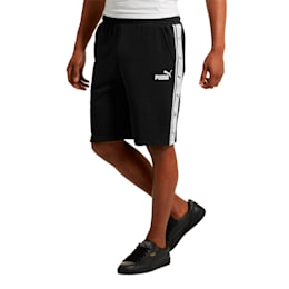 Men's Heritage Tape Shorts, Cotton Black-white, small