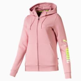 Essentials Women's Hooded Fleece Jacket, Bridal Rose, small
