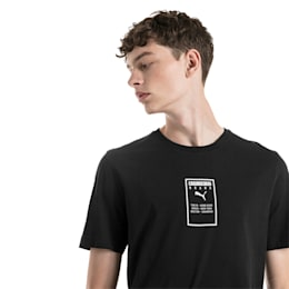 Brand Placed Men's Tee, Cotton Black, small