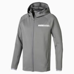 Active Tec Sports Hooded Men's Jacket, Medium Gray Heather, small-SEA