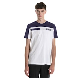 T-shirt Modern Sports Advanced para homem, Puma White-Peacoat, small