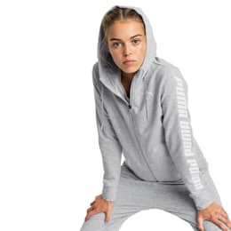 Modern Sports Women's Hooded Jacket, Light Gray Heather, small-SEA