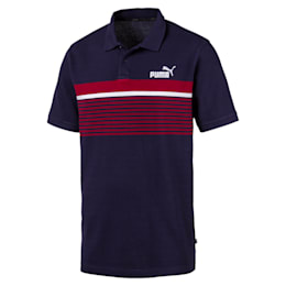 Camiseta tipo polo ESS+ Striped para hombre