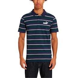 ESS+ Striped J Men's Polo, Peacoat, small