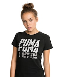 Font Graphic Women's Tee, Cotton Black, small