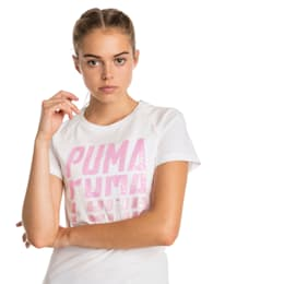 Font Graphic Women's Tee, Puma White, small
