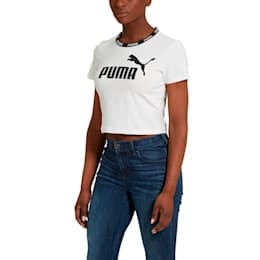 Amplified Women's Cropped Tee, Puma White, small