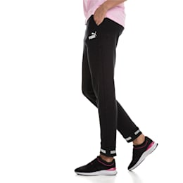 Amplified Knitted Women's Sweatpants, Cotton Black, small-IND