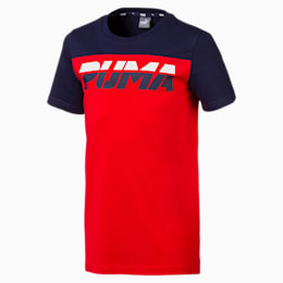 Alpha Trend Boys' Tee, High Risk Red, small