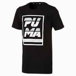 T-Shirt Alpha Graphic pour garçon, Cotton Black, small