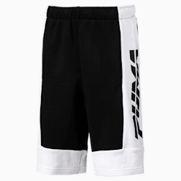 Alpha Boys' Sweat Bermudas, Cotton Black, small