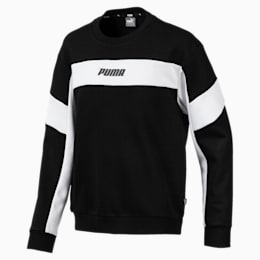 Rebel Crew Sweat, Cotton Black, small-IND