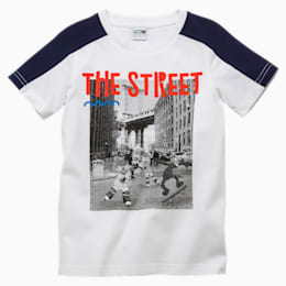 PUMA x SESAME STREET Boys' Tee, Puma White, small-SEA