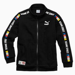 PUMA x SESAME STREET Boys' Jacket, Cotton Black, small