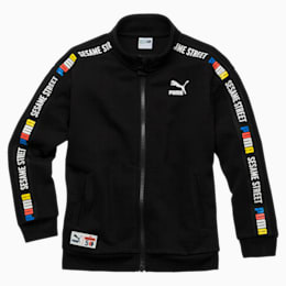 PUMA x SESAME STREET Boys' Jacket, Cotton Black, small-SEA