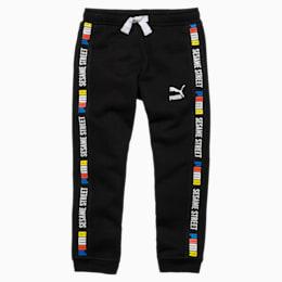 PUMA x SESAME STREET Boy's Sweatpants, Cotton Black, small