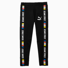 PUMA x SESAME STREET Girl's Leggings, Cotton Black, small