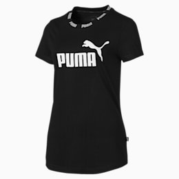 Amplified Women's Tee, Cotton Black, small-SEA