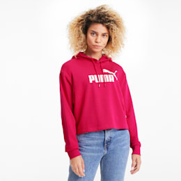 Essentials+ Women's Cropped Hoodie, BRIGHT ROSE, small