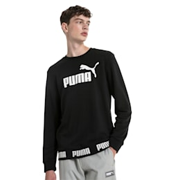 Amplified Men's Sweater, Cotton Black, small-SEA