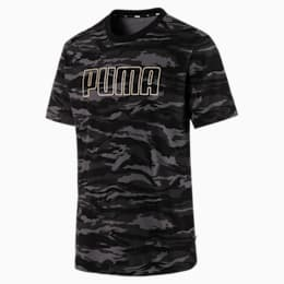 Camo AOP T-Shirt, Cotton Black-Gold, small