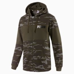 Camo Full-Zip Hoodie, Forest Night, small