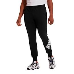 Men's Logo Pants, Cotton Black, small