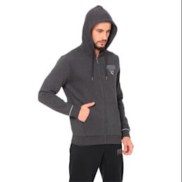Athletics FZ Hoody FL, Dark Gray Heather, small-IND