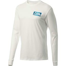 Uproar Men's Long Sleeve Tee, Puma White, small
