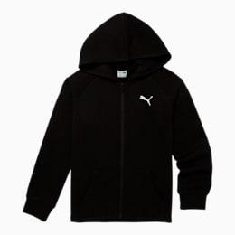 Modern Sports Kids' Fleece Zip Up Hoodie JR, PUMA BLACK, small
