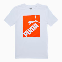 Amplified Boys' Graphic Tee JR, PUMA WHITE, small