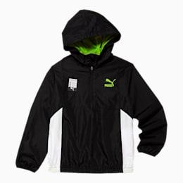 Tailored for Sport Boys' Windbreaker JR, PUMA BLACK, small