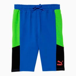 Tailored for Sport Boys' French Terry Shorts JR, DAZZLING BLUE, small